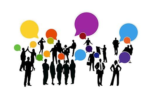 Groep mensen praten